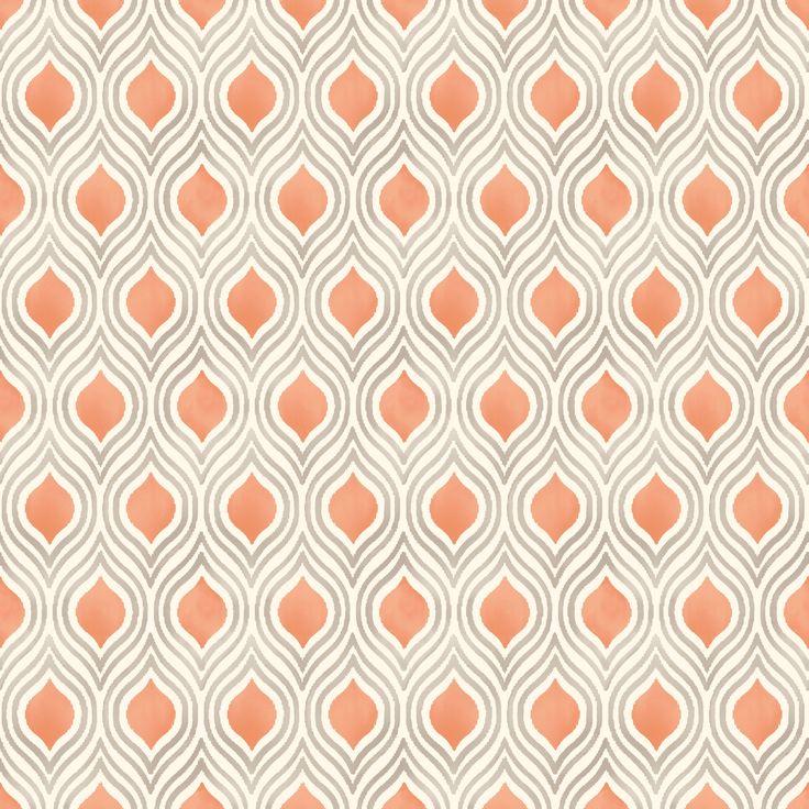Colours Ailsa Burnt Orange Geometric Wallpaper | Departments | DIY at B&Q