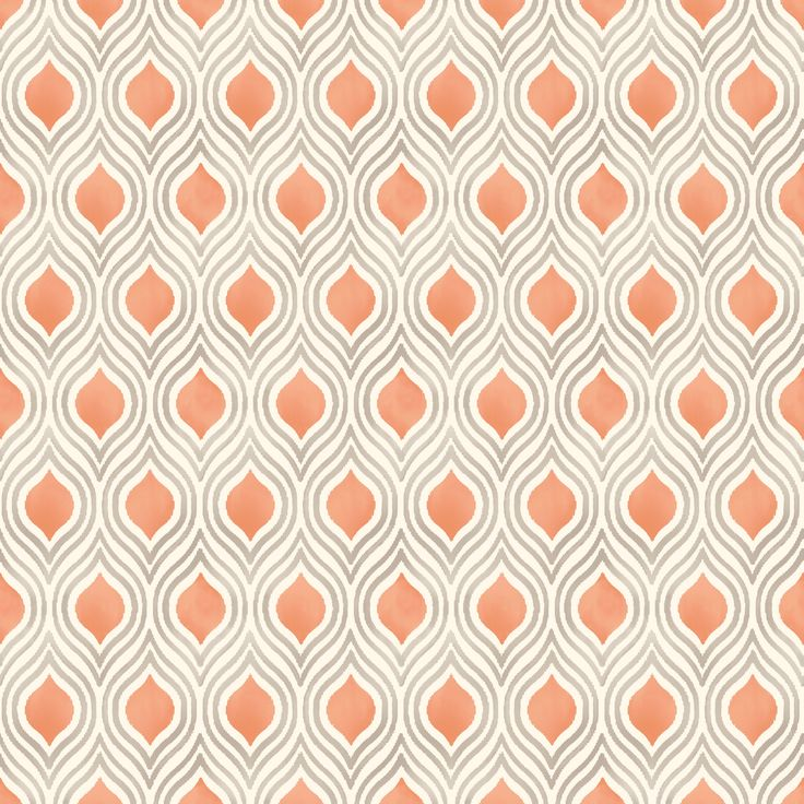 Colours Ailsa Burnt Orange Geometric Wallpaper | Departments | DIY at B&Q