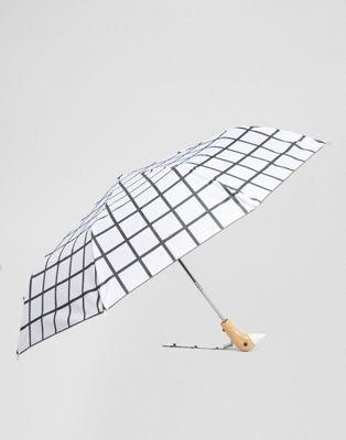 Original Duckhead White Grid Umbrella