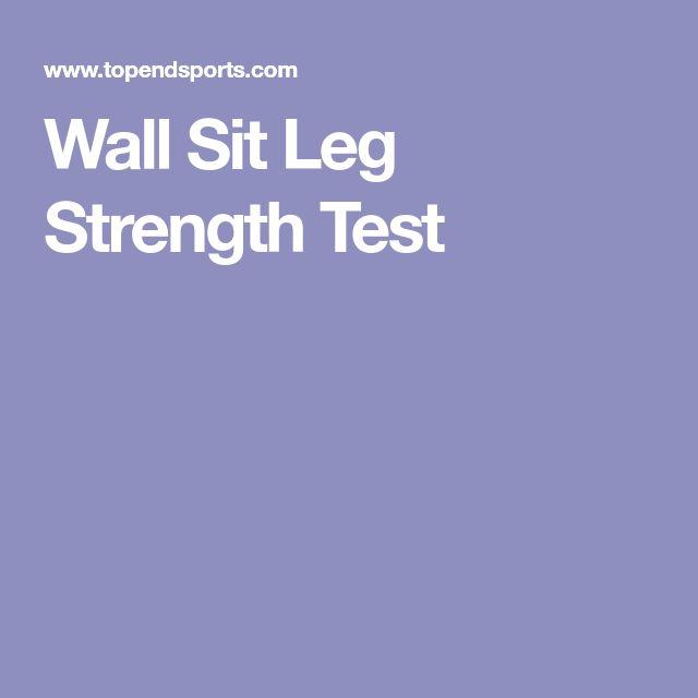 Wall Sit Leg Strength Test