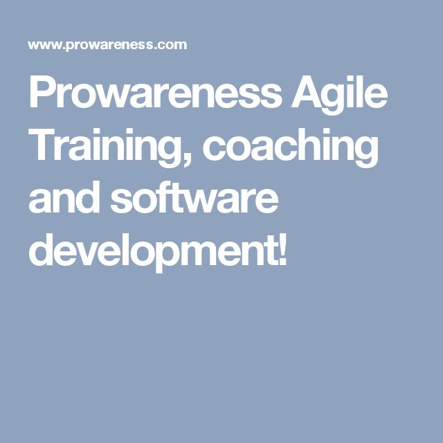 Prowareness Agile Training, coaching and software development!