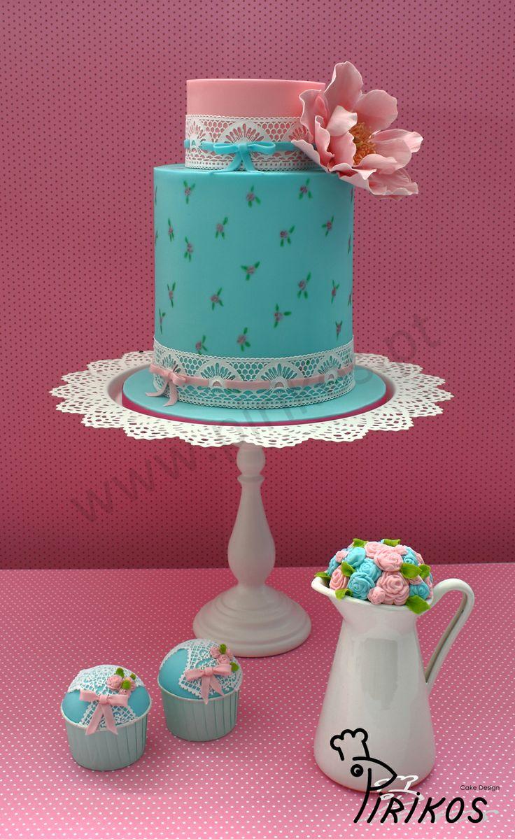 shabby chic bridal shower cakes%0A Shabby Chic wedding cake