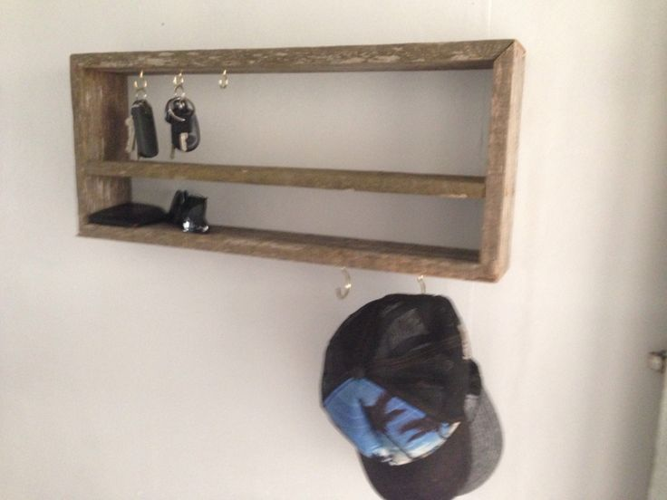 recycled fence palings key holder/hat rack