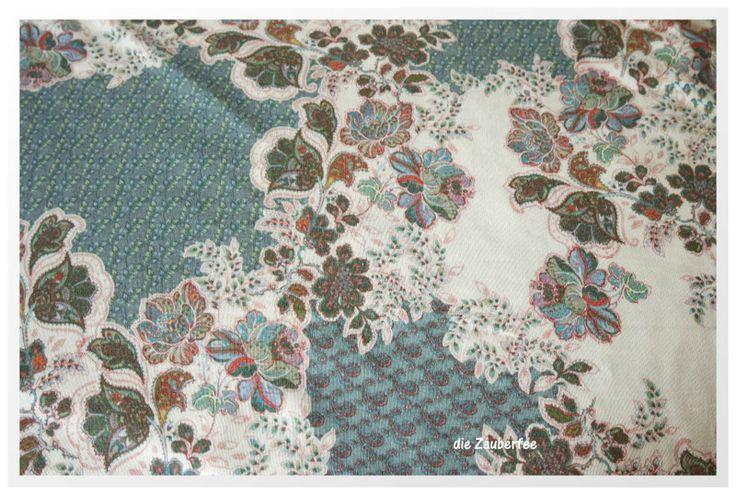 Stoff Blumen - La Botanica, leichter Viskoce-Strick, Hilco - ein Designerstück von dieZauberfee bei DaWanda