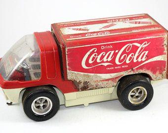 Vintage Coca Cola Truck | Taiyo Japan Coca Cola | Big Wheel Truck | Van | Truck } Battery Operated