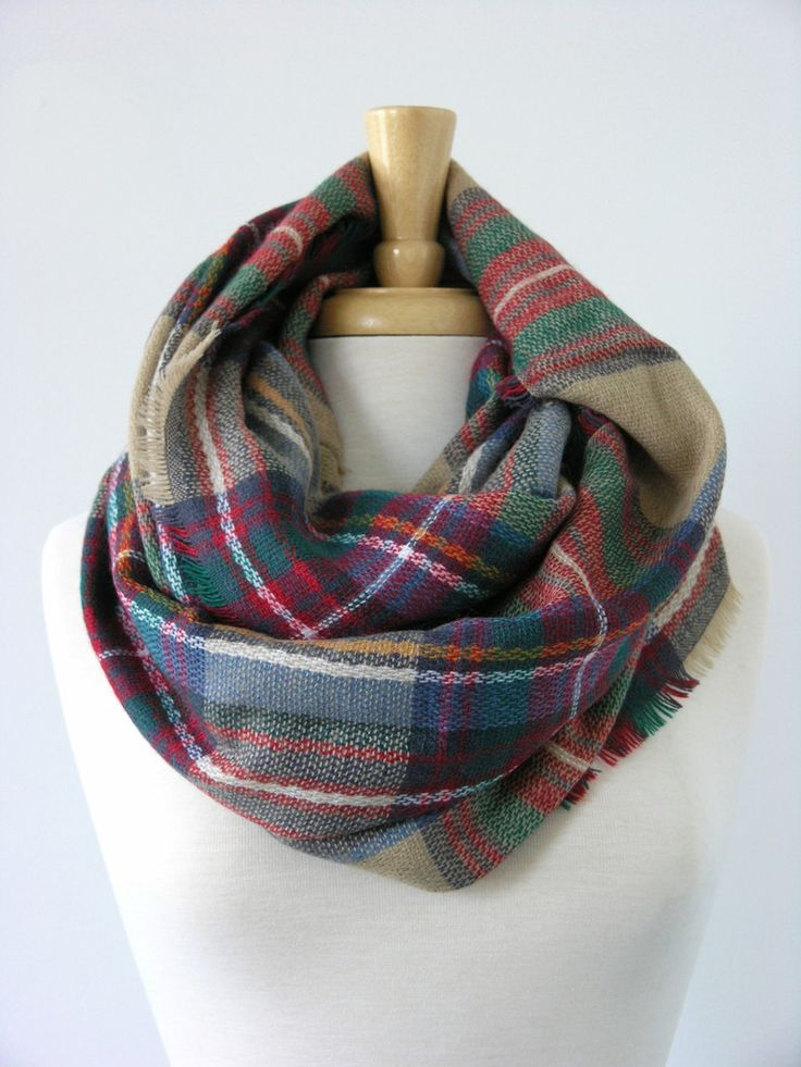 Tartan Plaid scarves are all over Pinterest right now!  Find this pattern infinity scarf on our site now: We have this pattern in an infinity scarf! http://www.shophillstreet.com/products/multi-wool-plaid-infinity-scarf