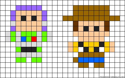 Buzz and Woody perler bead pattern
