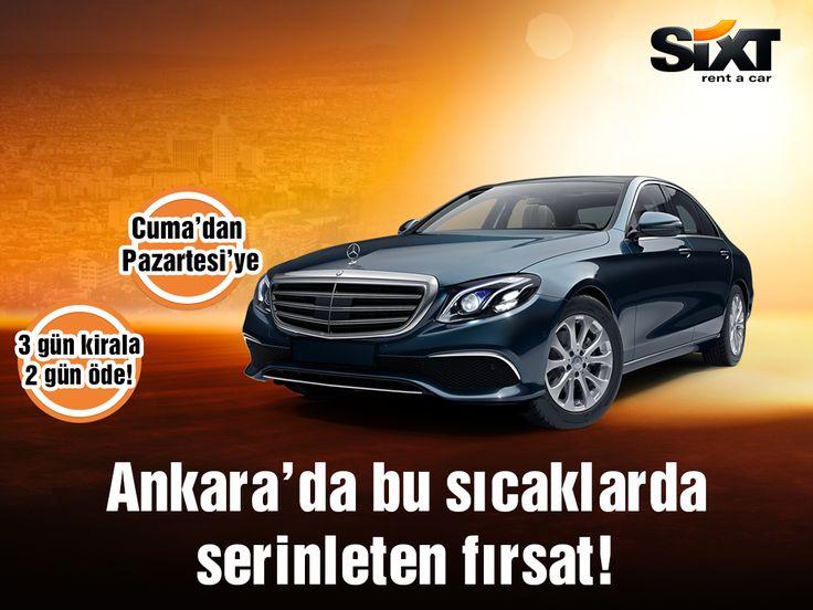 Ankara'da bu sıcaklarda serinleten fırsat Sixt rent a car'dan! Detaylı bilgi için; https://www.sixt.com.tr  #Sixt #Sixtrentacar #prestij #konfor #yaşam #mutluluk #tarz #Ankara #yaz #summer #summertime