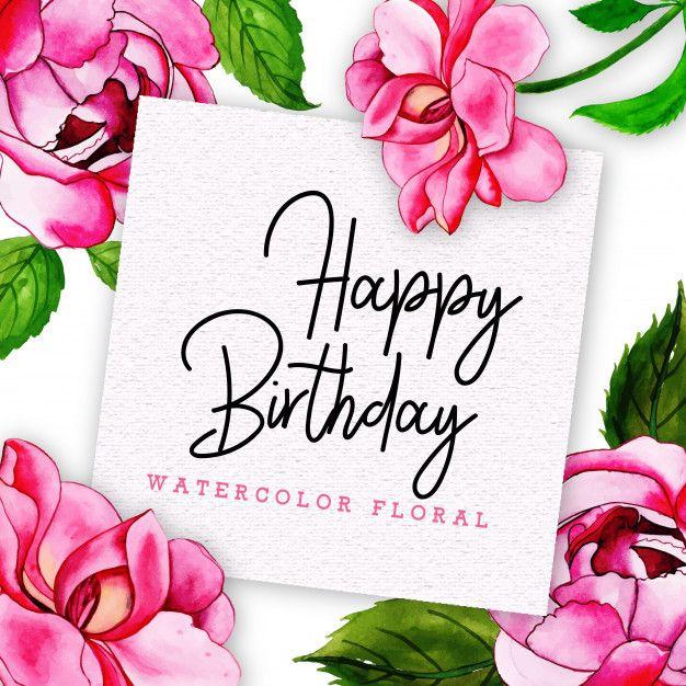 Feliz Cumpleanos Flor Impresionante Tarjeta De Feliz Cumpleanos Con Flores En Estilo In 2020 Happy Birthday Frame Happy Birthday Balloon Banner Happy Anniversary Cards