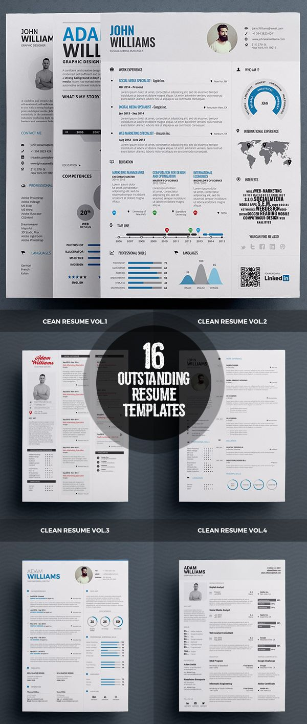 16 Outstanding and Stylish Resume Designs 71