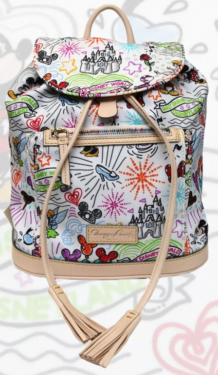 Comes in handy, and can't beat the price with a cast discount.  Disney Dooney and Bourke Sketch Backpack