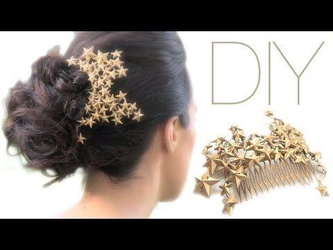 "▶ DIY: HAIR CLIP ""PEINETA DECORADA CON ESTRELLAS"" - YouTube"