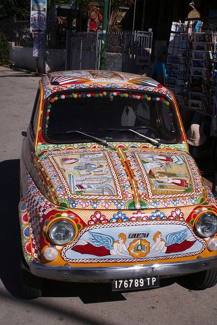 Painted Fiat 500 - Sicily Style