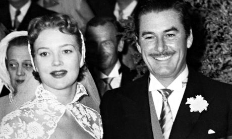 Patrice Wymore and Errol Flynn on their wedding day in 1950