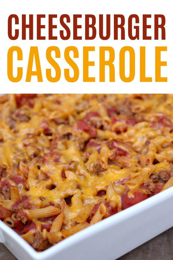 Easy Cheeseburger Casserole Freezer Meal Six Sisters Stuff Recipe Cheeseburger Casserole Freezer Meals Meals