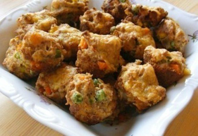 Zöldséges mini muffin