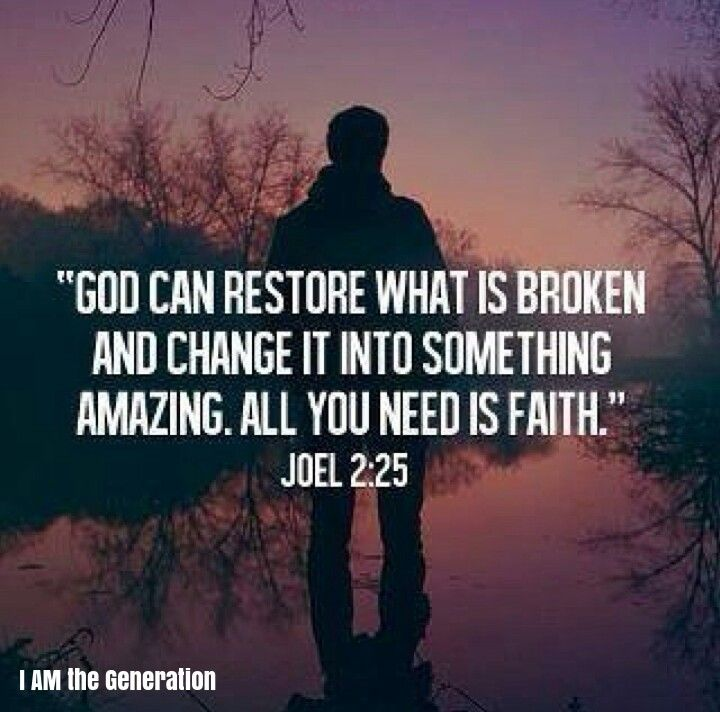 God can Restore what is broken and Change it into Something Amazing! All You Need is Faith- Joel 2:25 Trust in Him & He will turn whatever was made for harm, pain or darkness into greatness, victory & light! Seek after Him TODAY! It's Time to Rise Up Generation!  We are a YouTube Channel International Ministry. Subscribe to us on our YouTube Channel @ I AM the Generation! The World needs you! It is Time to Rise Up Generation Today! We Thank You for Being a Light to This World! ★ Thank you…
