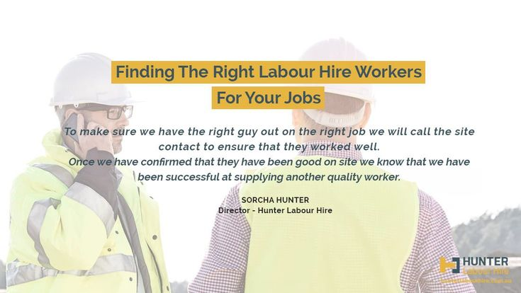 How to find the right labour hire - Sorcha Hunter