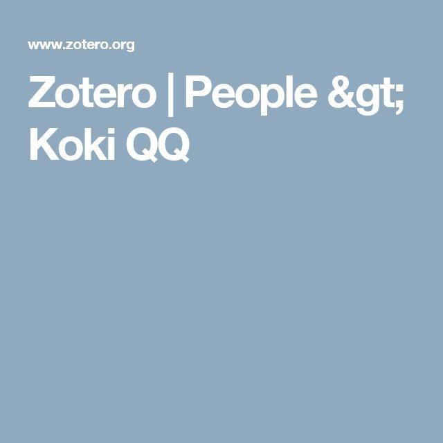 Zotero | People > Koki QQ