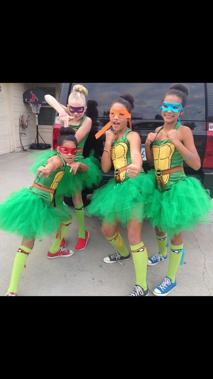Ninja turtles girls costume ideas best friends