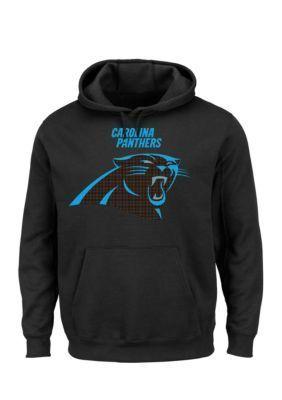 Majestic Black Carolina Panthers Critical Victory Hooded Fleece Sweatshirt