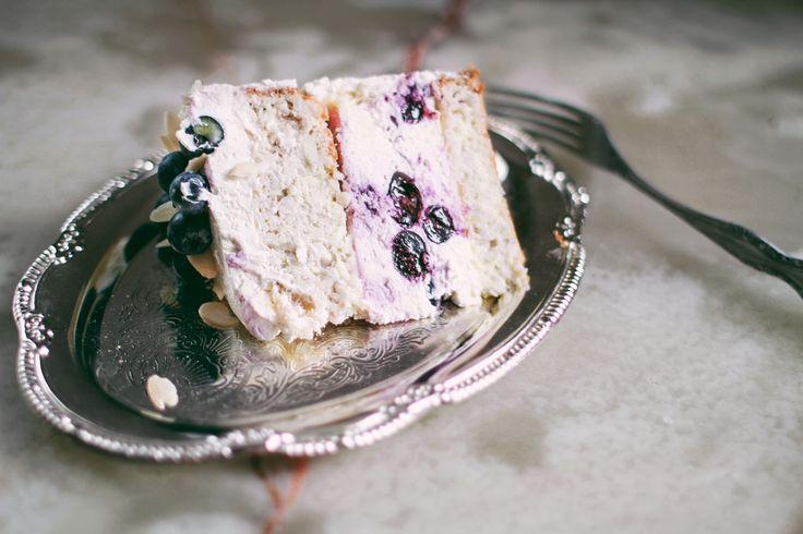 Dietary coconut-zucchini cake,  with lemon Kurd, cheesecake with strawberries and vanilla cream