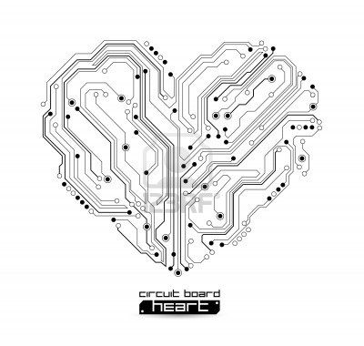 circuit board heart