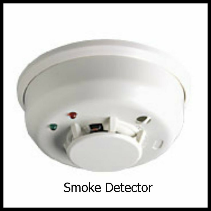 Smoke Detector connected to your Security System for 24 hour smoke alarm monitoring.