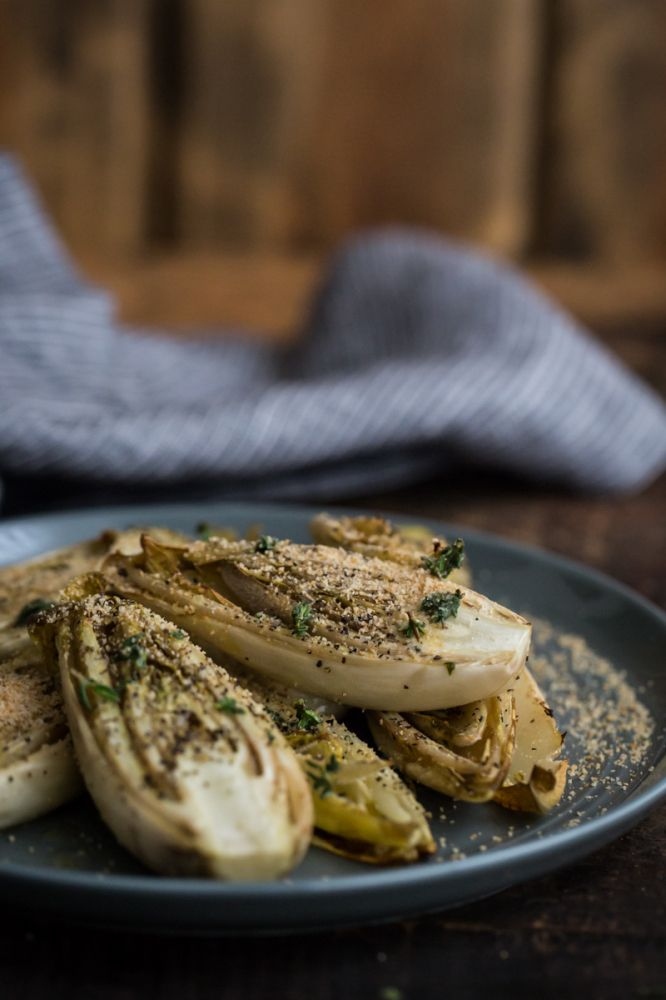 Roasted Endives with Thyme Olive Oil   @naturallyella