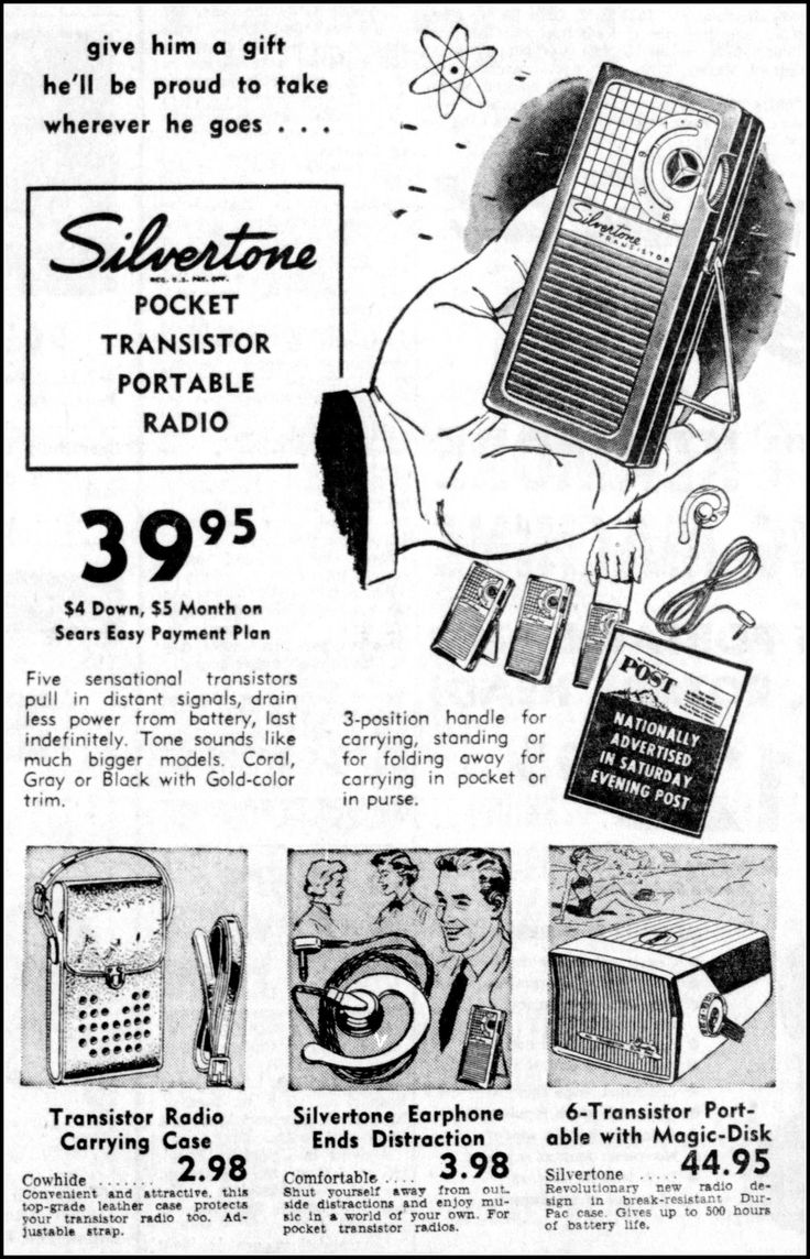 Vintage carnival ride www imgarcade com online image arcade - Vintage Newspaper Advertising For The Silvertone Transistor Radio Which Was Sold By Sears Roebuck The Morning Herald Uniontown Pennsylvania