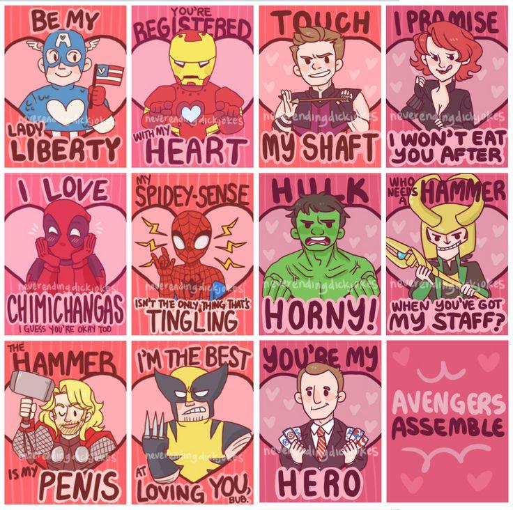 Avengers V-Day cards