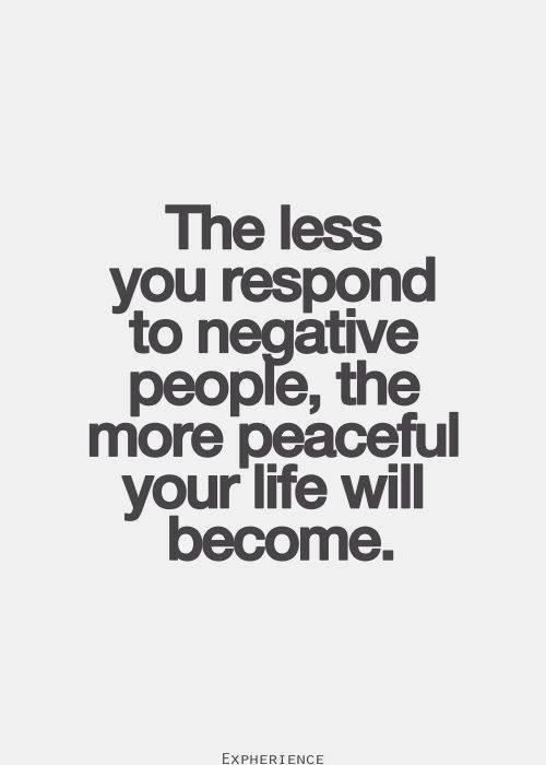 Responding to negative people quote.