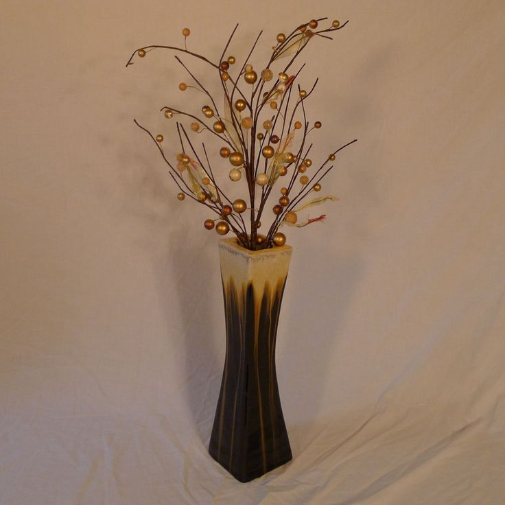 """Contemporary Vase Pottery Ceramic 14 1/2"""" Tall #Unbranded #Contemporary"""