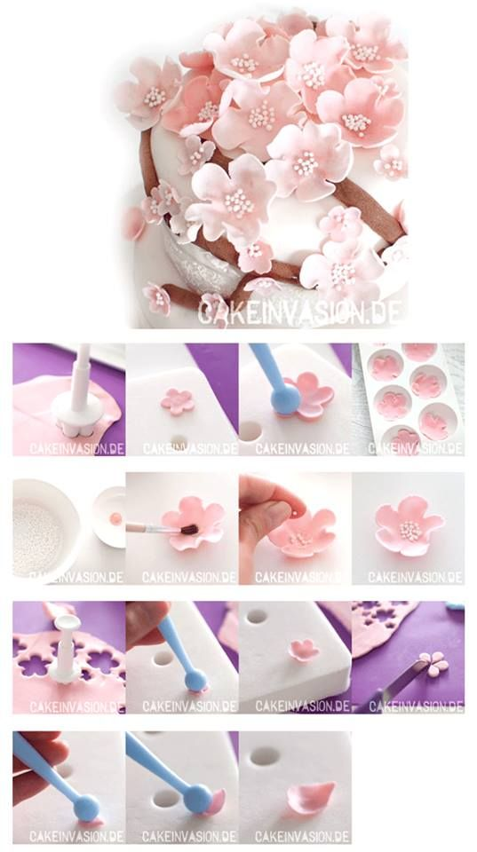 Gumpaste flower tutorial.