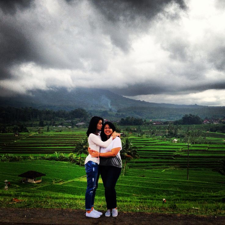 Me & my sister at Jatiluwih Rice Fields, Bali  [Unesco Heritage]