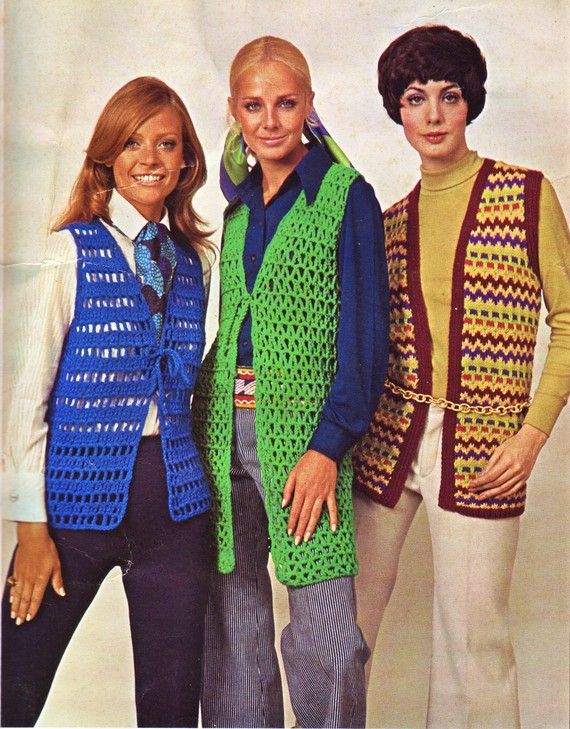 crochet vests: Schools Colors, Childhood Memories, Vest Fashion, My Friends, Memories Lane, Aunt, Crochet Vests, 1970S Crochet, Sweaters Vest