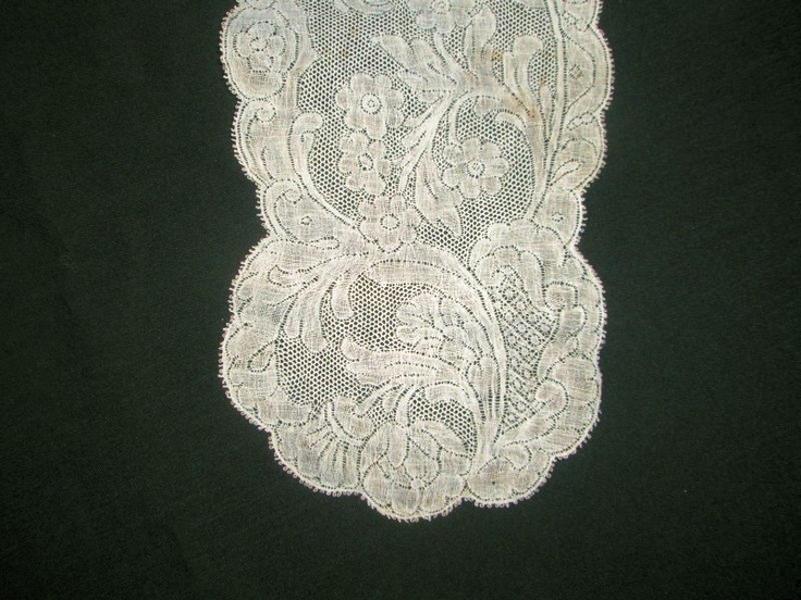 """""""VALENCIENNES BOBBIN LACE LAPPETS DATING FROM ABOUT 1760"""""""
