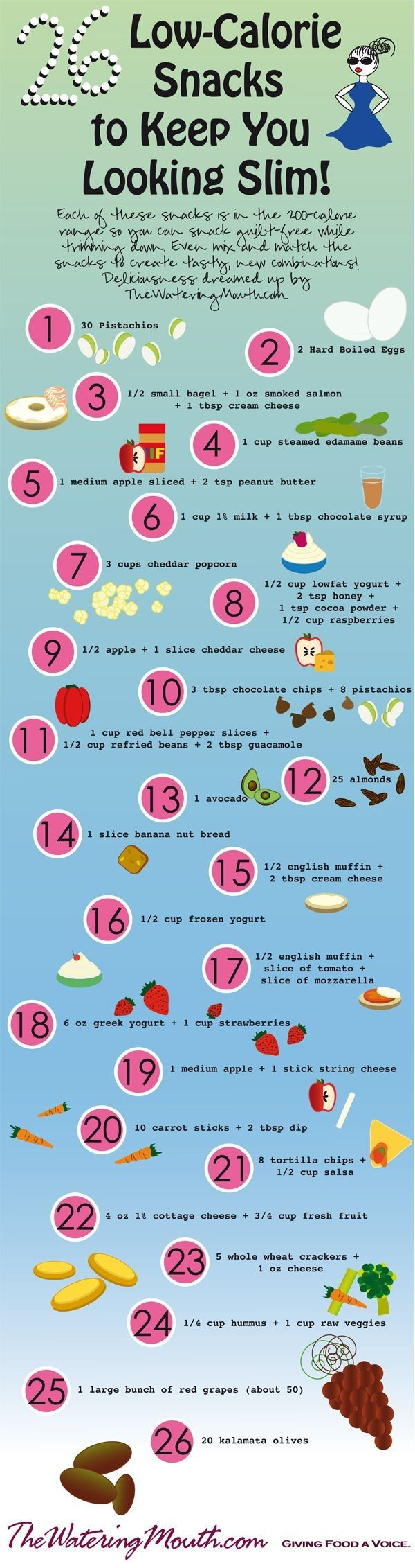Low Calorie Snacks that will keep you slim #healthy #slim