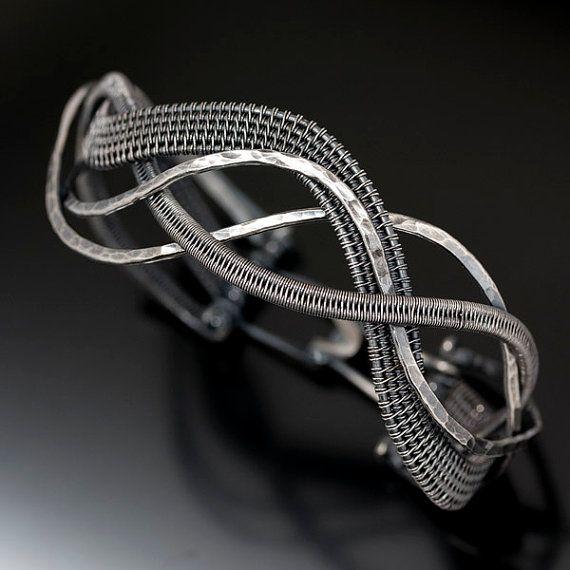 Woven Wave Bracelet - Fine Silver Bracelet