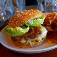 Pictured, the burger at Maven is our #3 of the Top Five Burgers in San Fran. 2012 - 1. Bourbon Steak 2. Plum Bar 3. Maven 4. 4505 Meats 5. Jasper's Corner Tap & Kitchen