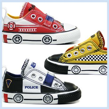 These cool new Converse slip-on sneakers come in fire truck, taxi and police car designs, perfect for zooming to emergency playdates (while making sound effects!)