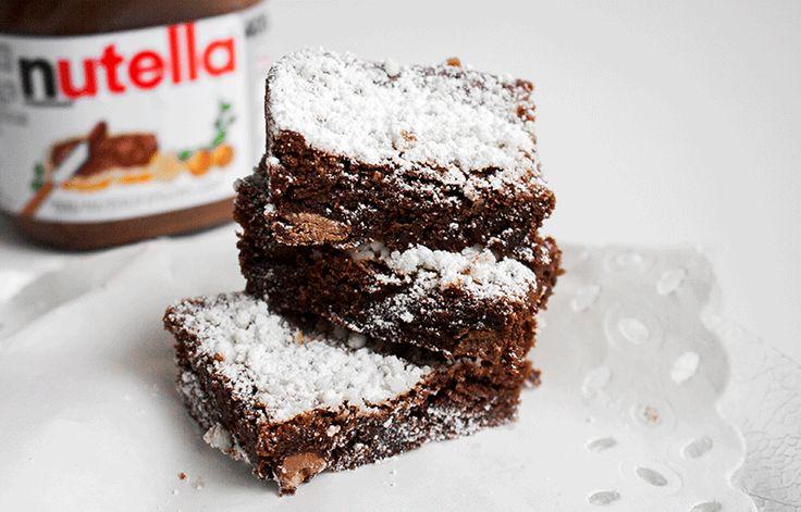 Receta: Brownie de Nutella
