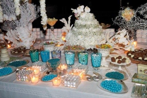 Tema Per Un Matrimonio Elegante : Magica confettata dai toni marini per un matrimonio estivo