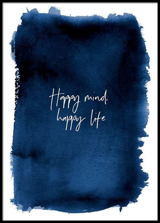 Happy mind Poster in der Gruppe Poster / Größen und Formate / 30x40cm bei Desenio AB (3666) –  – #badezimmerideen