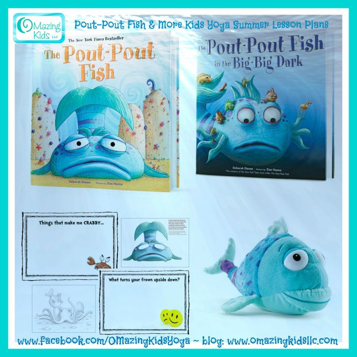 pout pout fish kids yoga - Pout Pout Fish Coloring Page