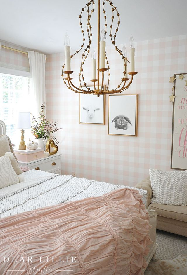 Lillie S Room With A Few Little Fall Updates Dear Lillie Fall Room Decor Dreamy Girls Bedroom Room Lillie room with new chandelier