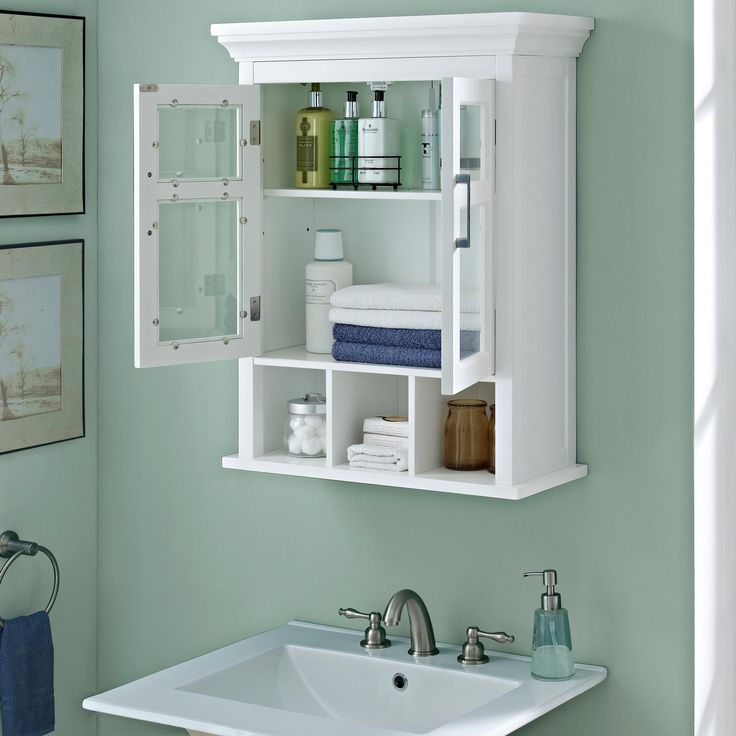 Luxury White Gloss Bathroom Wall Cabinet
