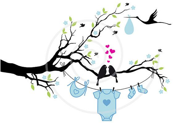 Descargar nuevo niño o niña pájaros lindos en el por Illustree, $5.00