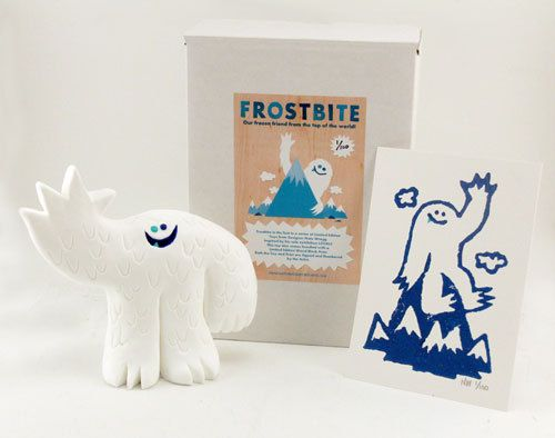 Frostbite art toy by Nate Wragg