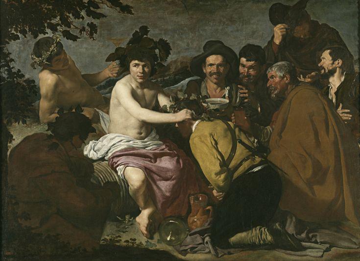 Los borrachos, o El triunfo de Baco, 1628/29. Óleo sobre lienzo, 165,5x227,5 cm. Madrid, Museo del Prado.